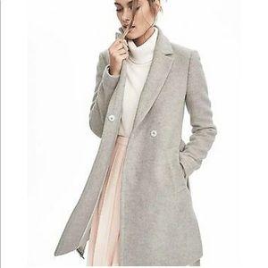 Banana Republic Grey Long Wrap Wool Coat